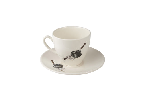 Riding Hat and Crop Tea Cup & Saucer