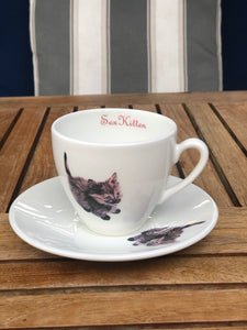 Sex Kitten tea cup & saucer