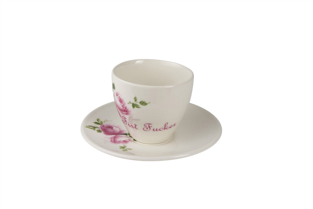 Fist Fucker Tea Cup & Saucer