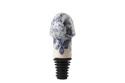 Blue Delft Cock Bottle Stopper
