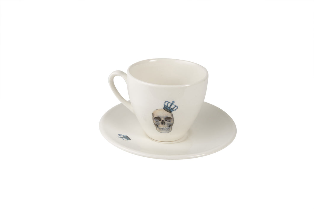 Skull & Crown Tea Cup & Saucer