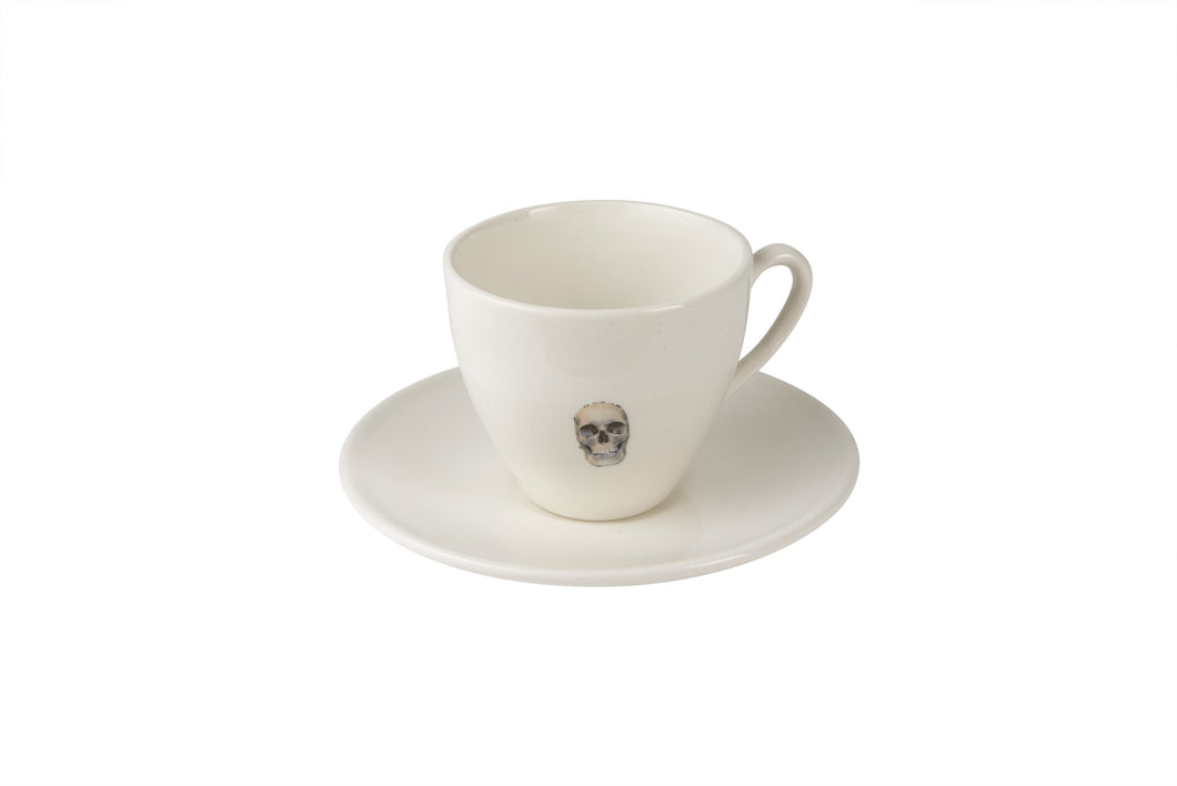 Naked Skull Tea Cup & Saucer