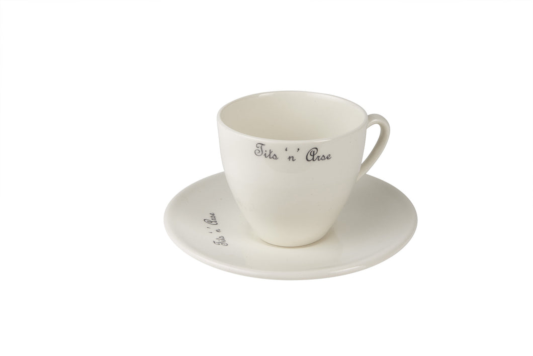 Tits 'n' Arse Tea Cup & Saucer