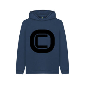Navy Blue Kids Outlandish Creations Logo Hoodie