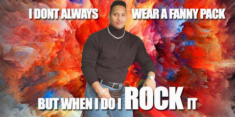 The Rock and a fanny pack