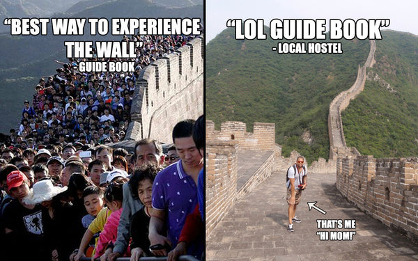 guidebook vs local recommendation