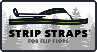 Strip Straps Brand Logo Flip Flop Trees Patch Outdoor