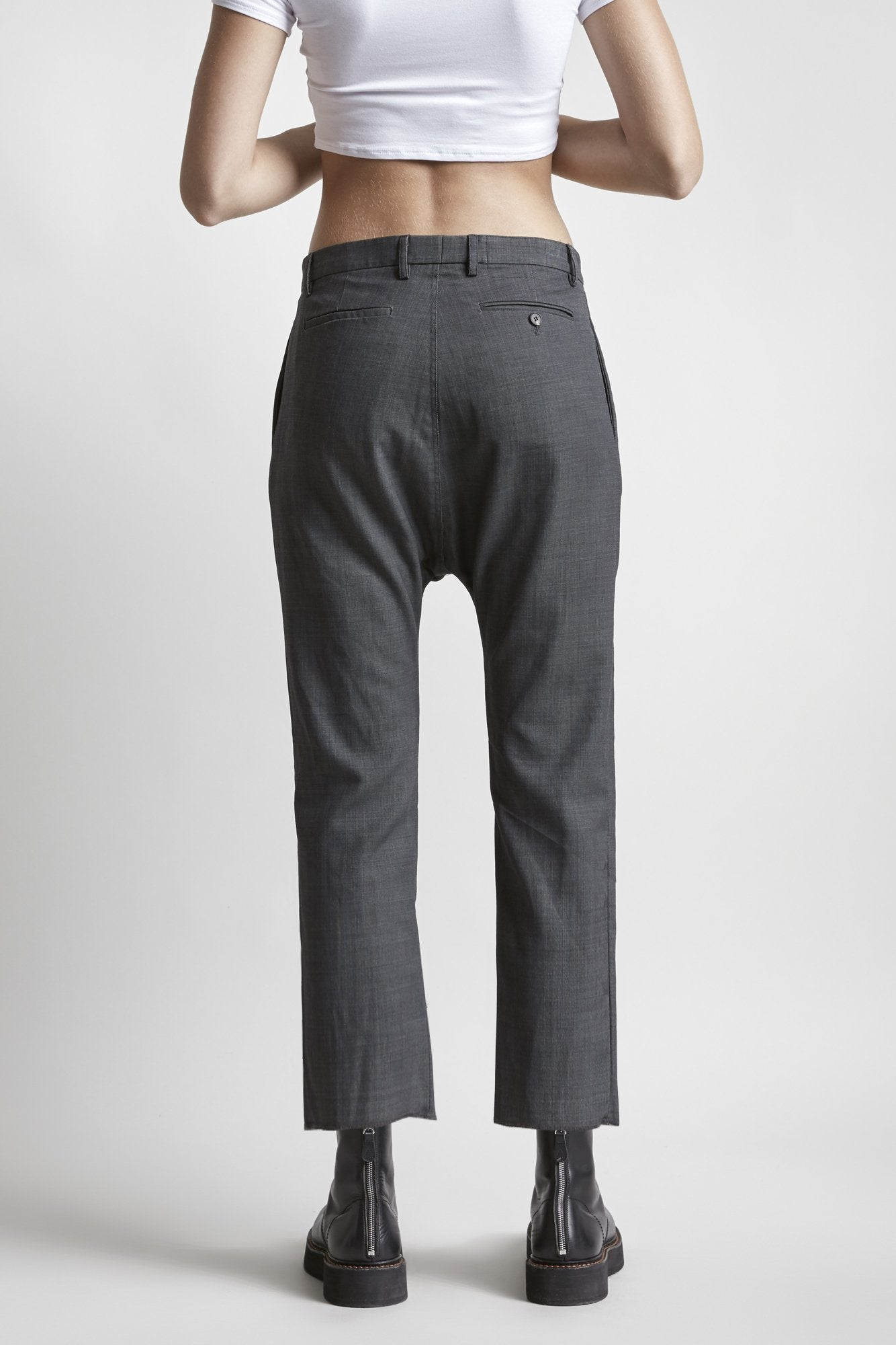 Tailored Drop Trouser - Grey