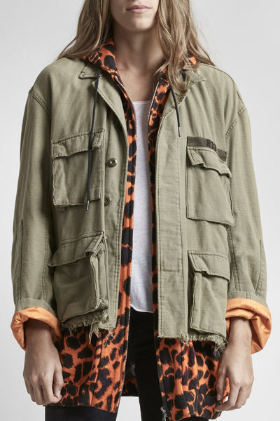 ABU Jacket with Long Hoodie - Orange