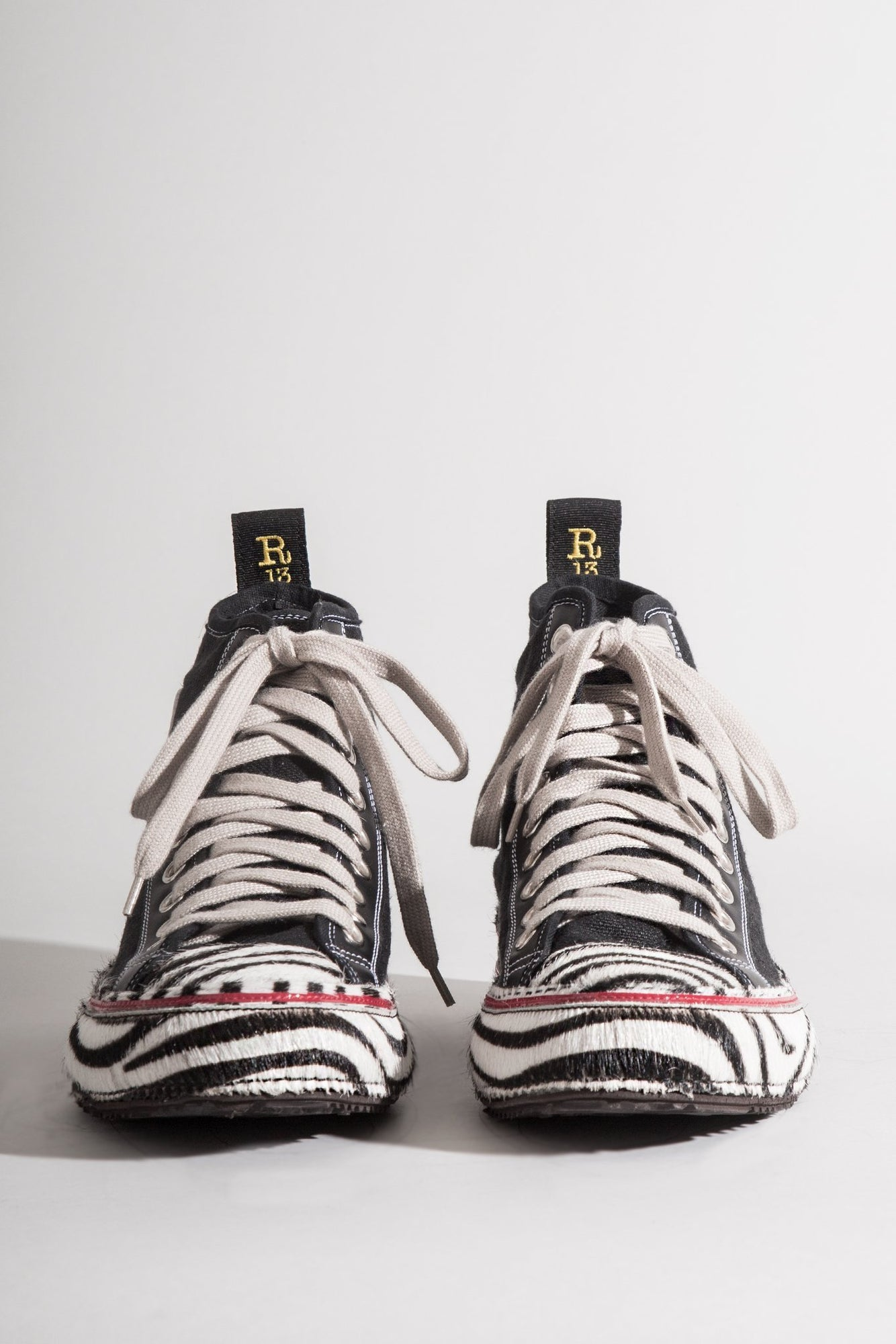 R13 High Top w/ Zebra Stripe