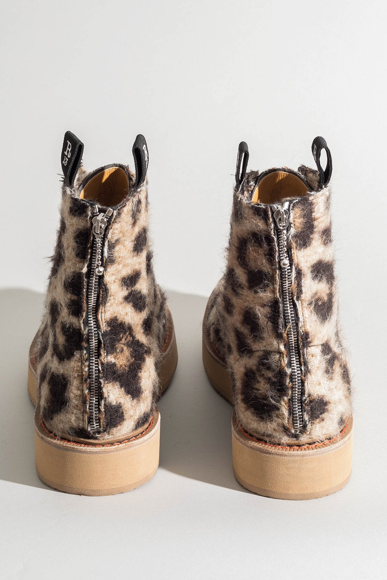 Single Stack Boot - Wooly Leopard