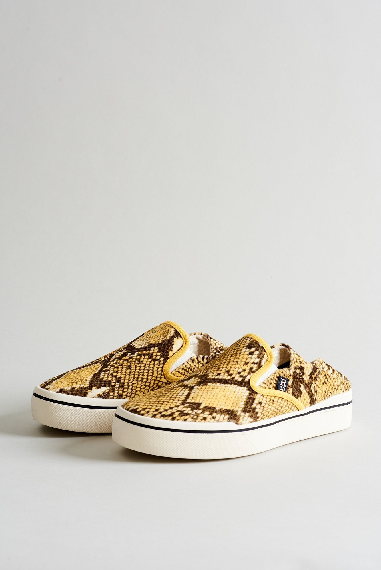 Slip On Sneaker– Yellow Python