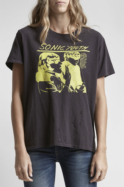 Sonic Youth Boy T - Washed Black