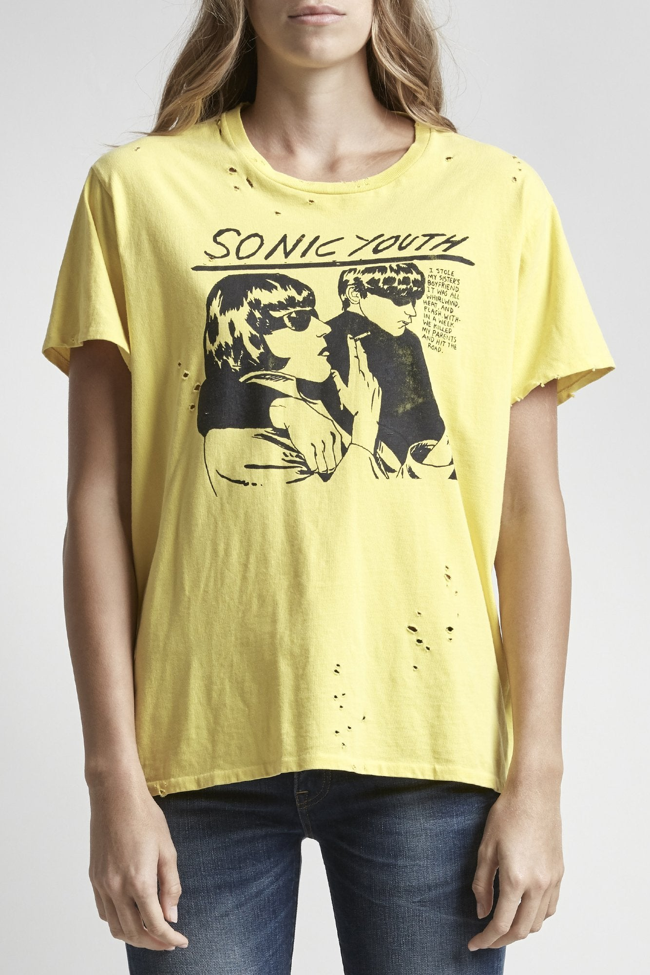 Sonic Youth Boy T - Yellow