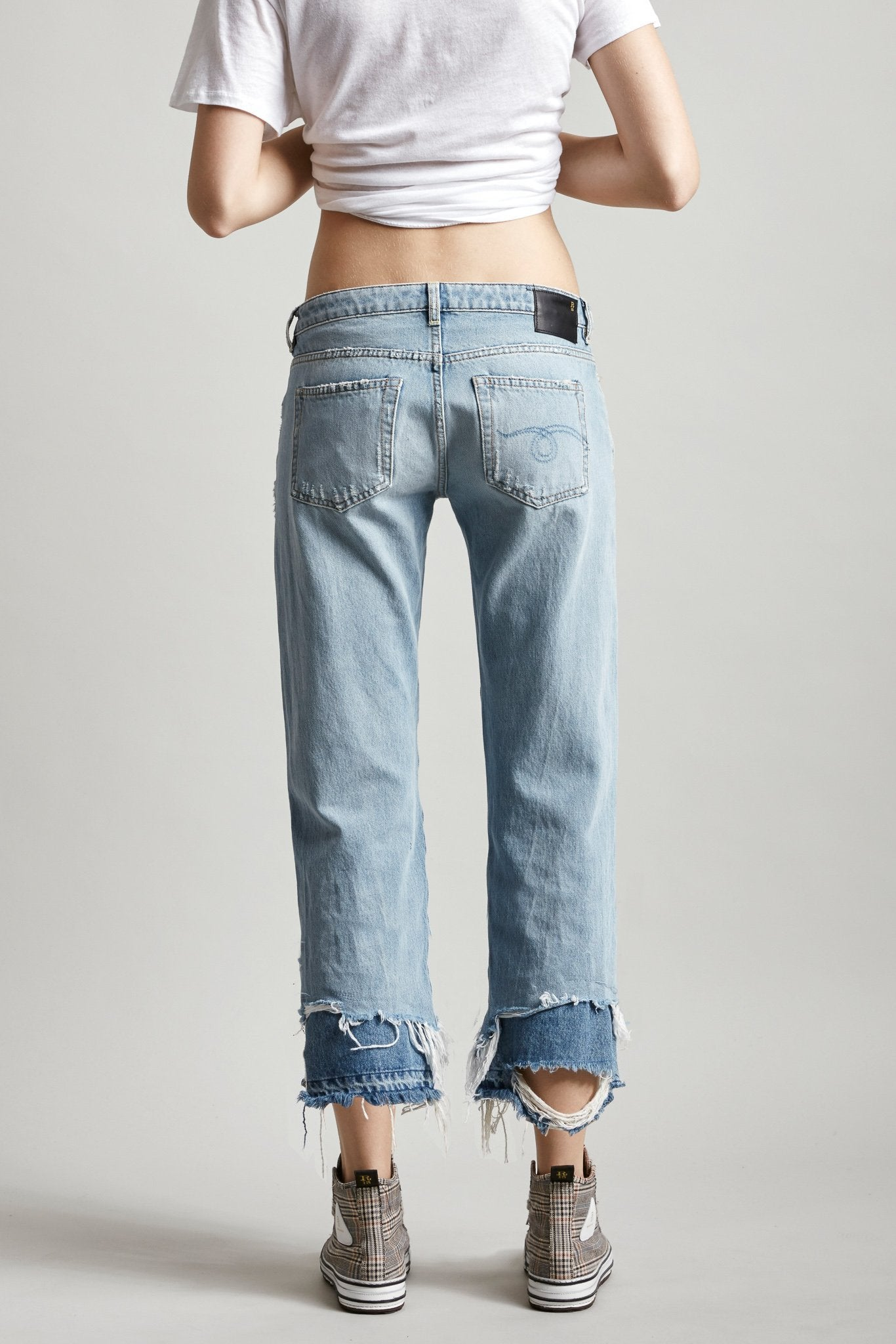Boy Straight - Kenmore w/ Double Shredded Hems