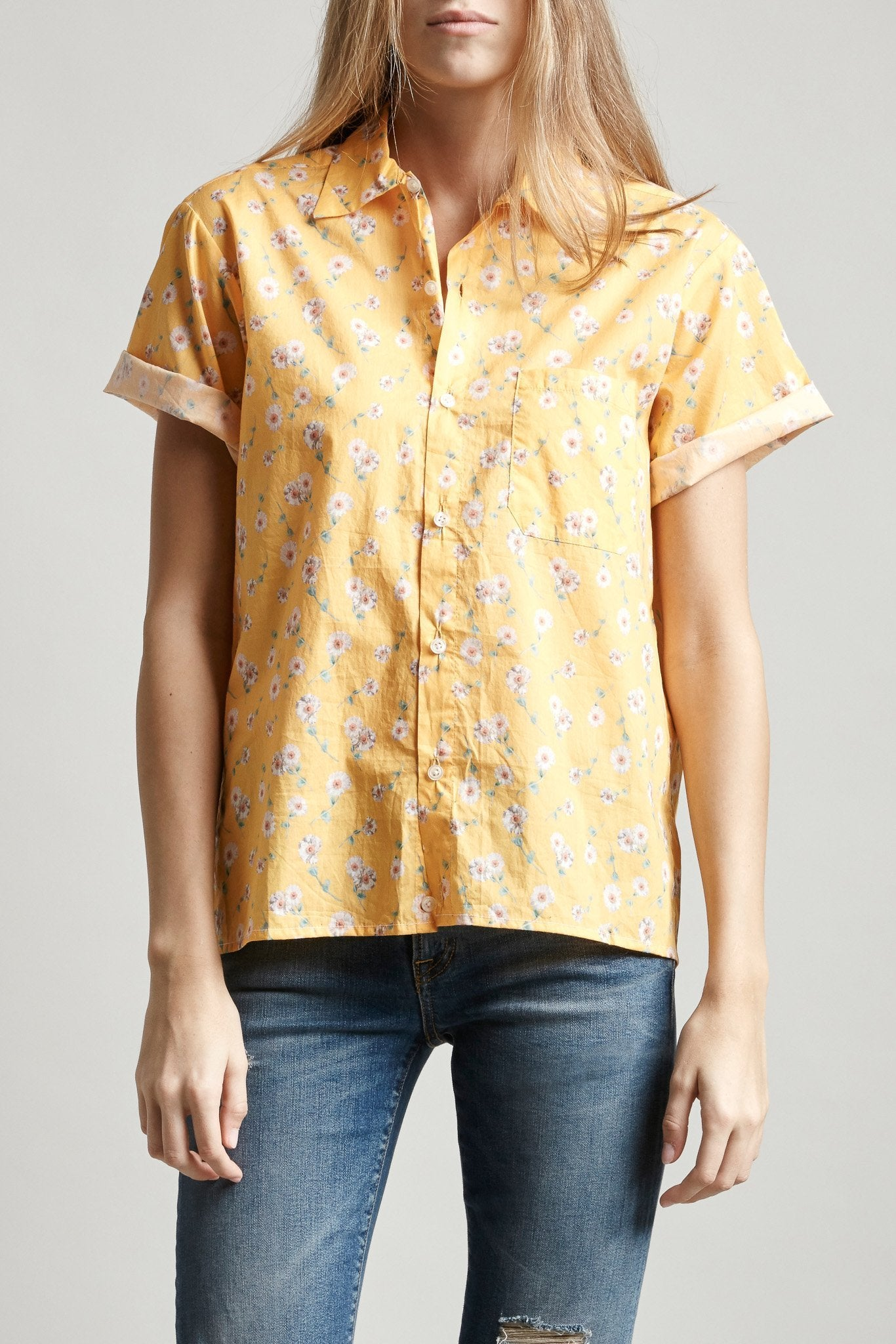 Skater Shirt - Yellow Daisy
