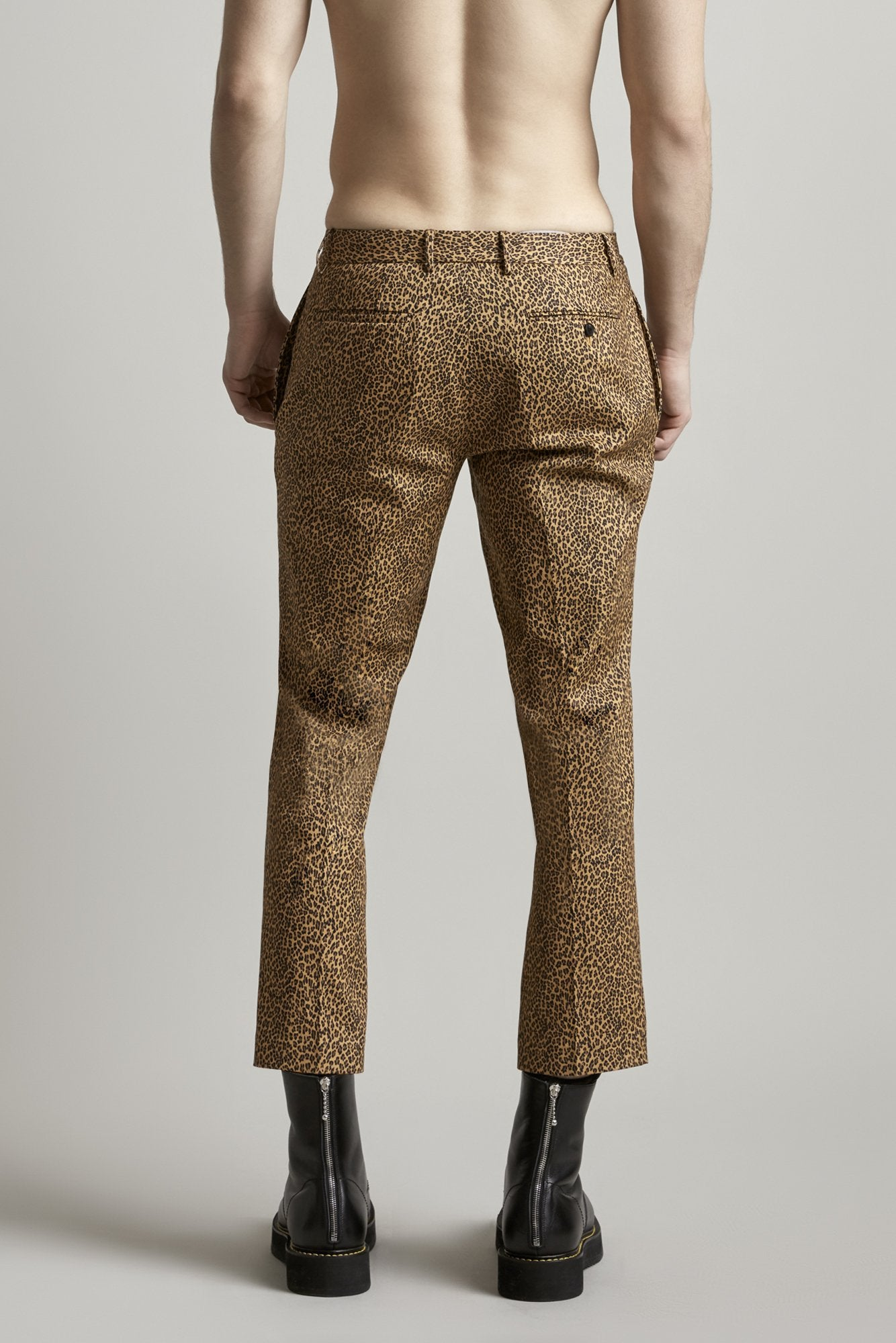 Wide Leg Trouser - Leopard