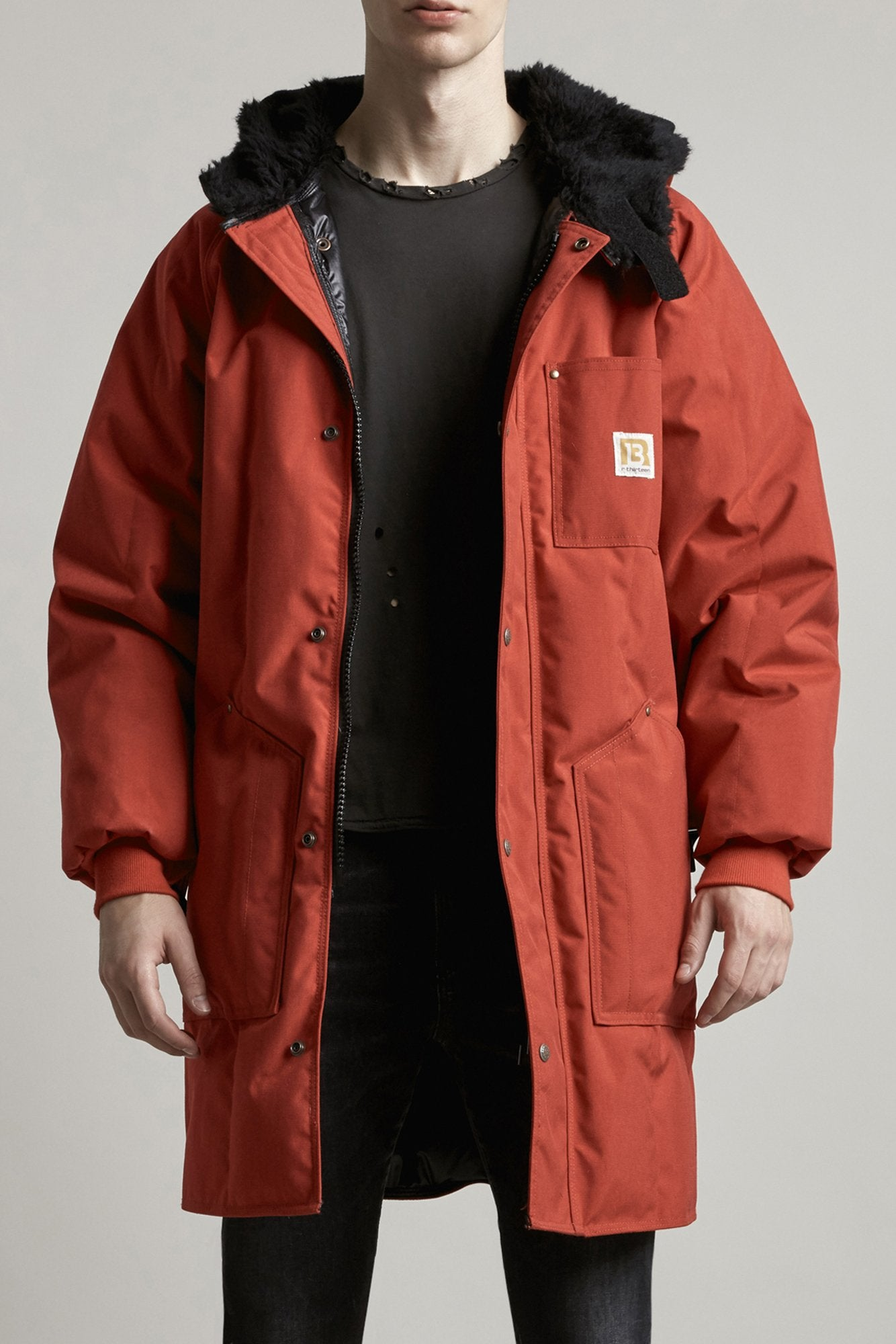 Sherpa Hood Parka - Red