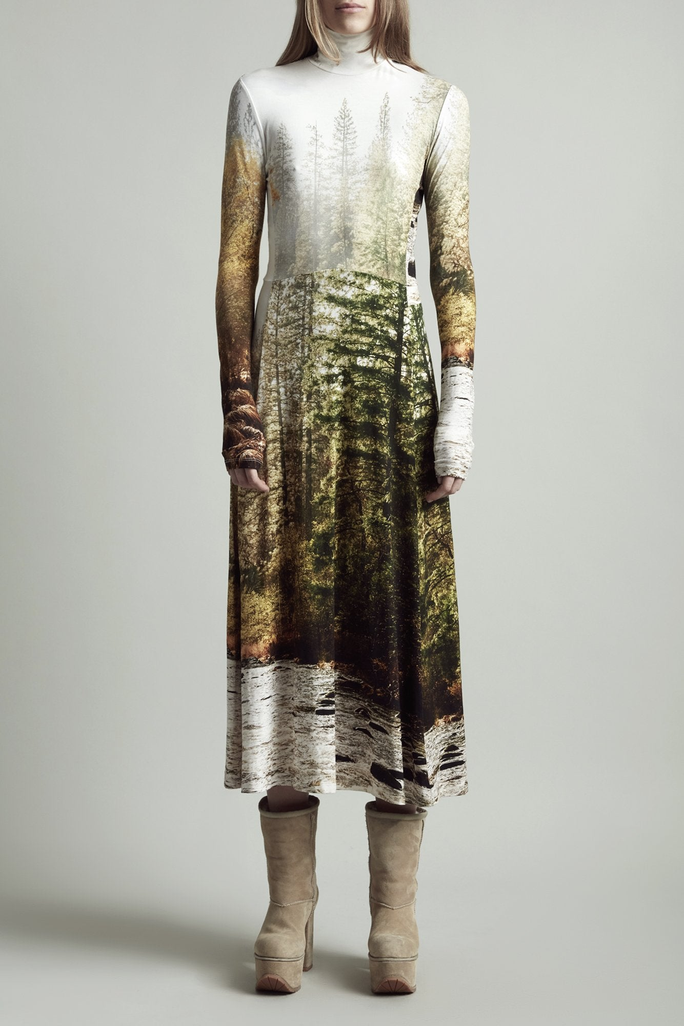 Forest River Turtleneck Dress