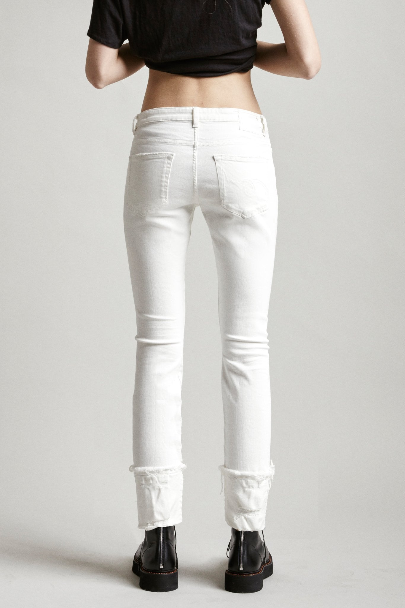 Boy Skinny with Cuff - Garret White