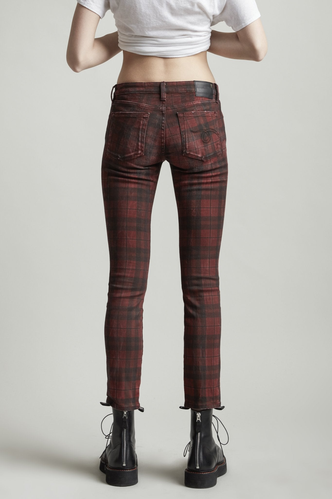 Kate Skinny - Red Plaid