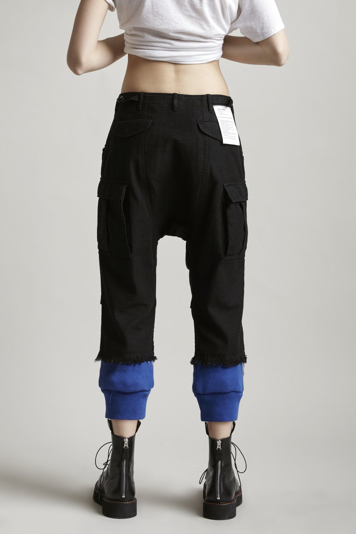 Harem Cargo w/ Sweat Cuffs - Royal Blue