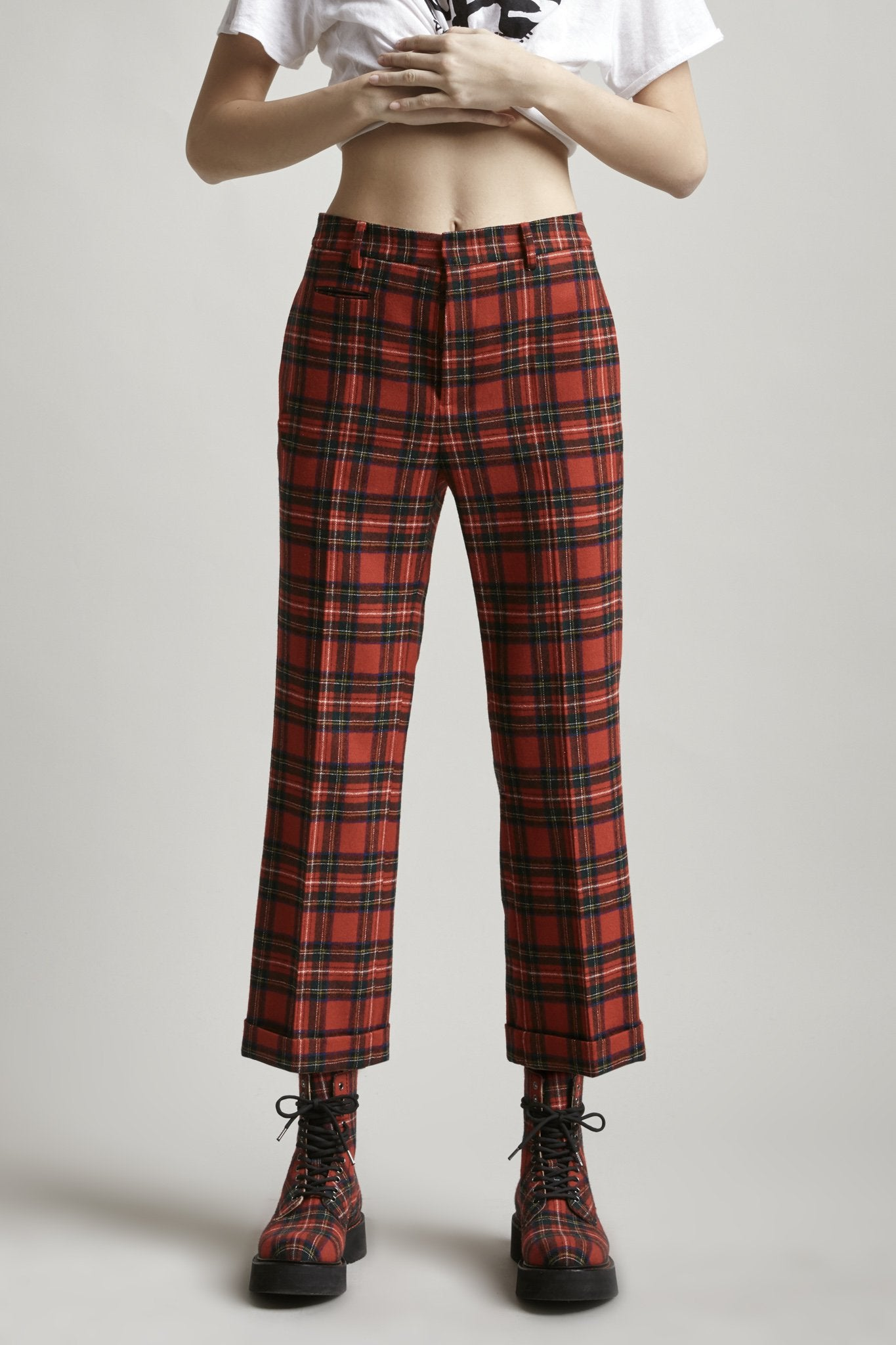 Pan Trouser - Red Tartan