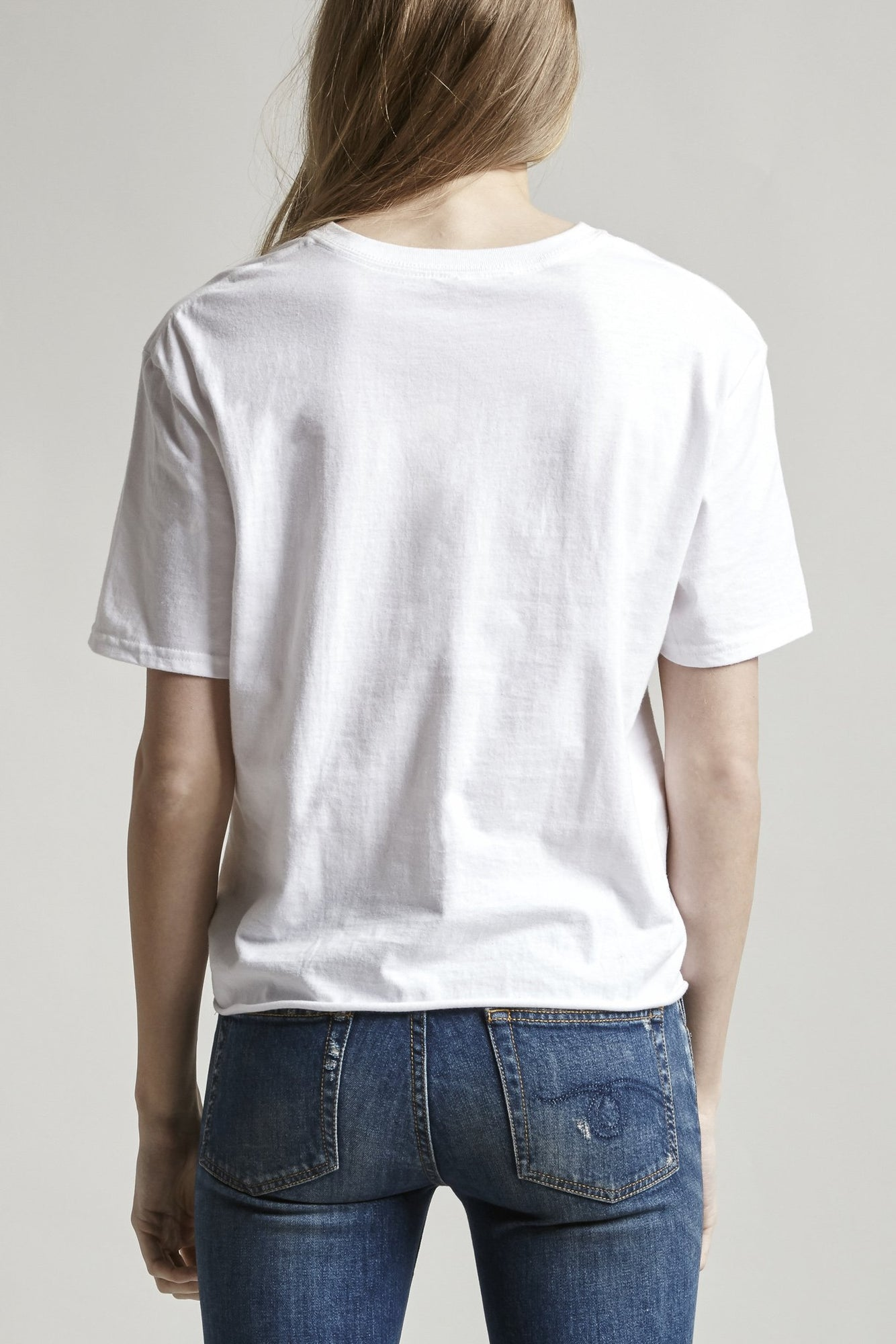 Twisted Front T - White
