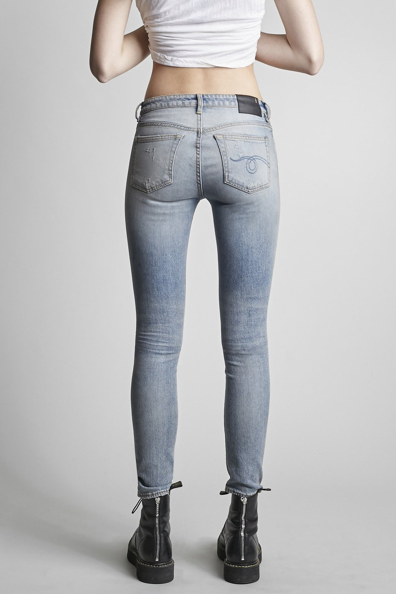 Alison Skinny - Leyton Blue with Leather Repairs