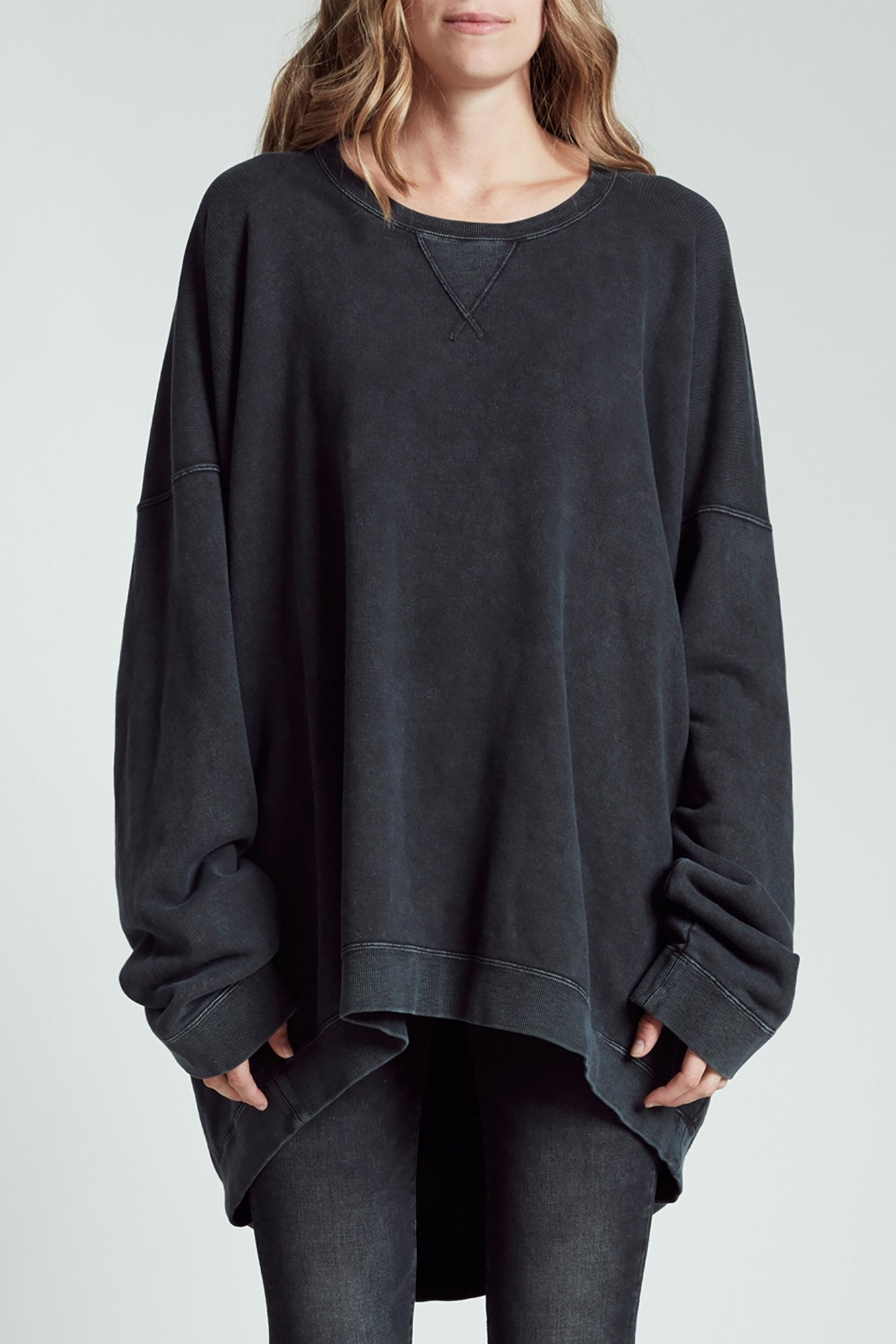 Slouch Crewneck - Acid Black