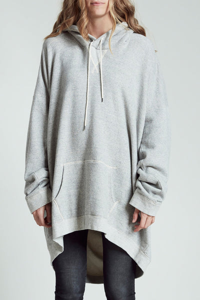 Slouch Hoodie - Heather Grey
