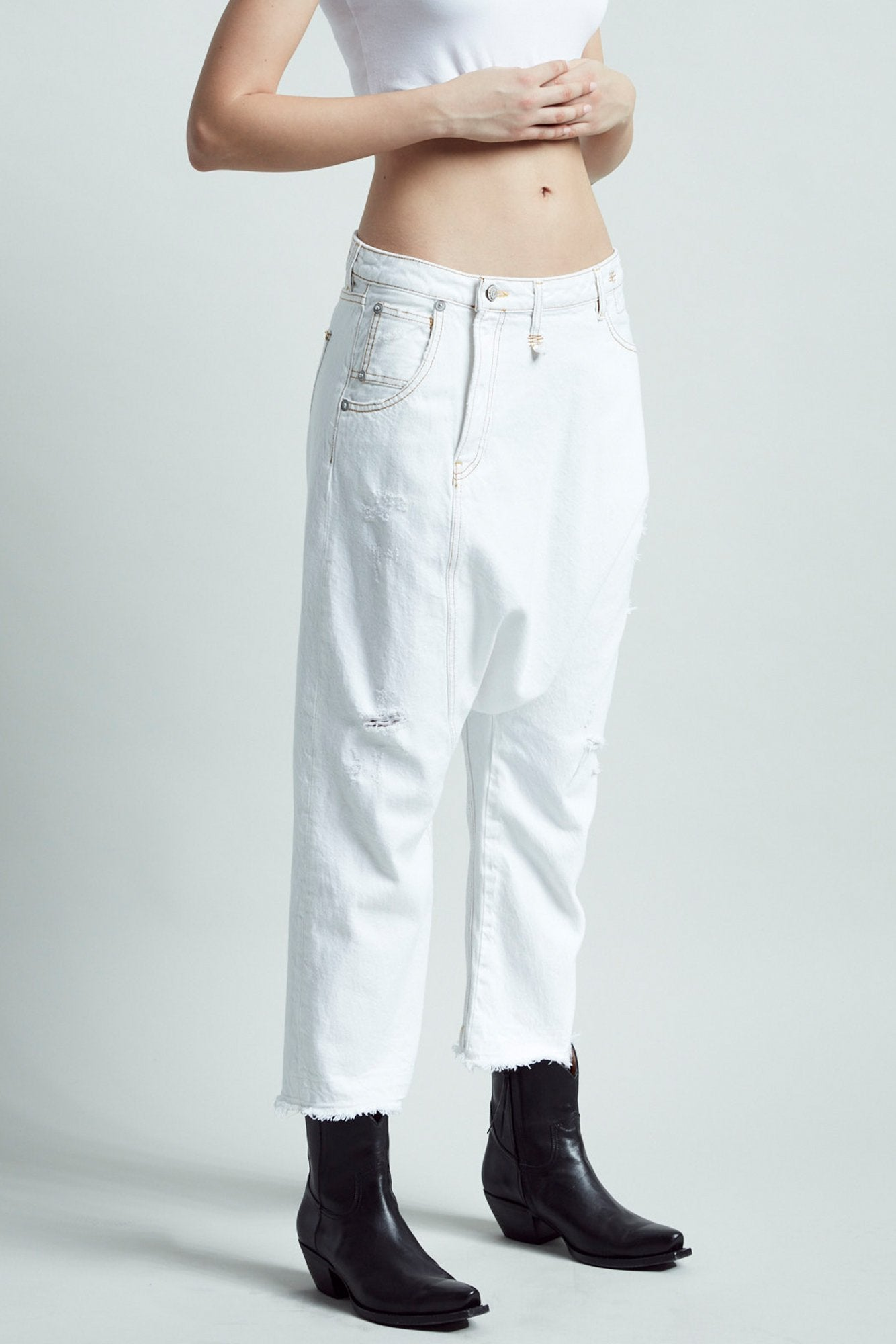 Twister Jean - Caspar White
