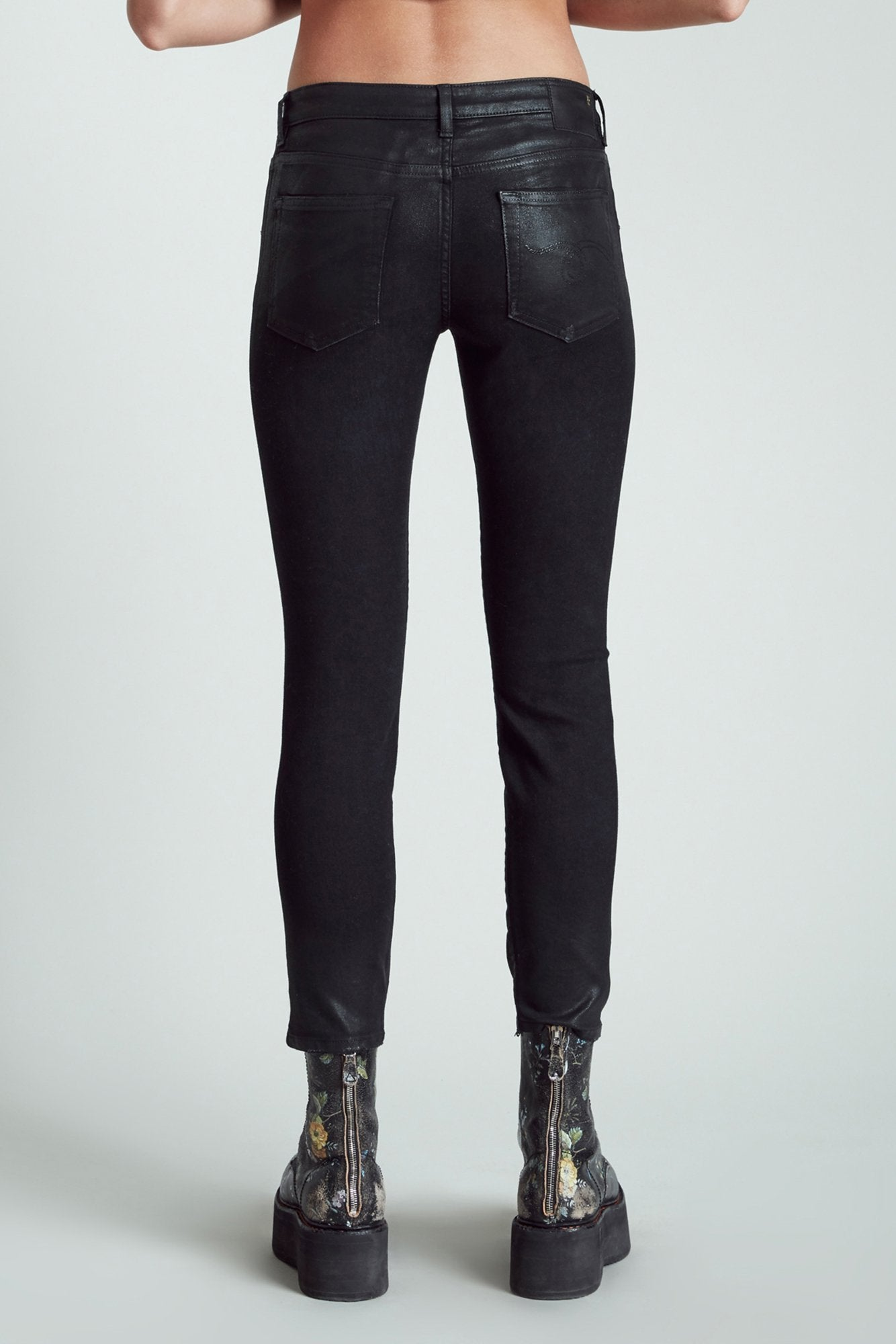 Boy Skinny - Coated Black