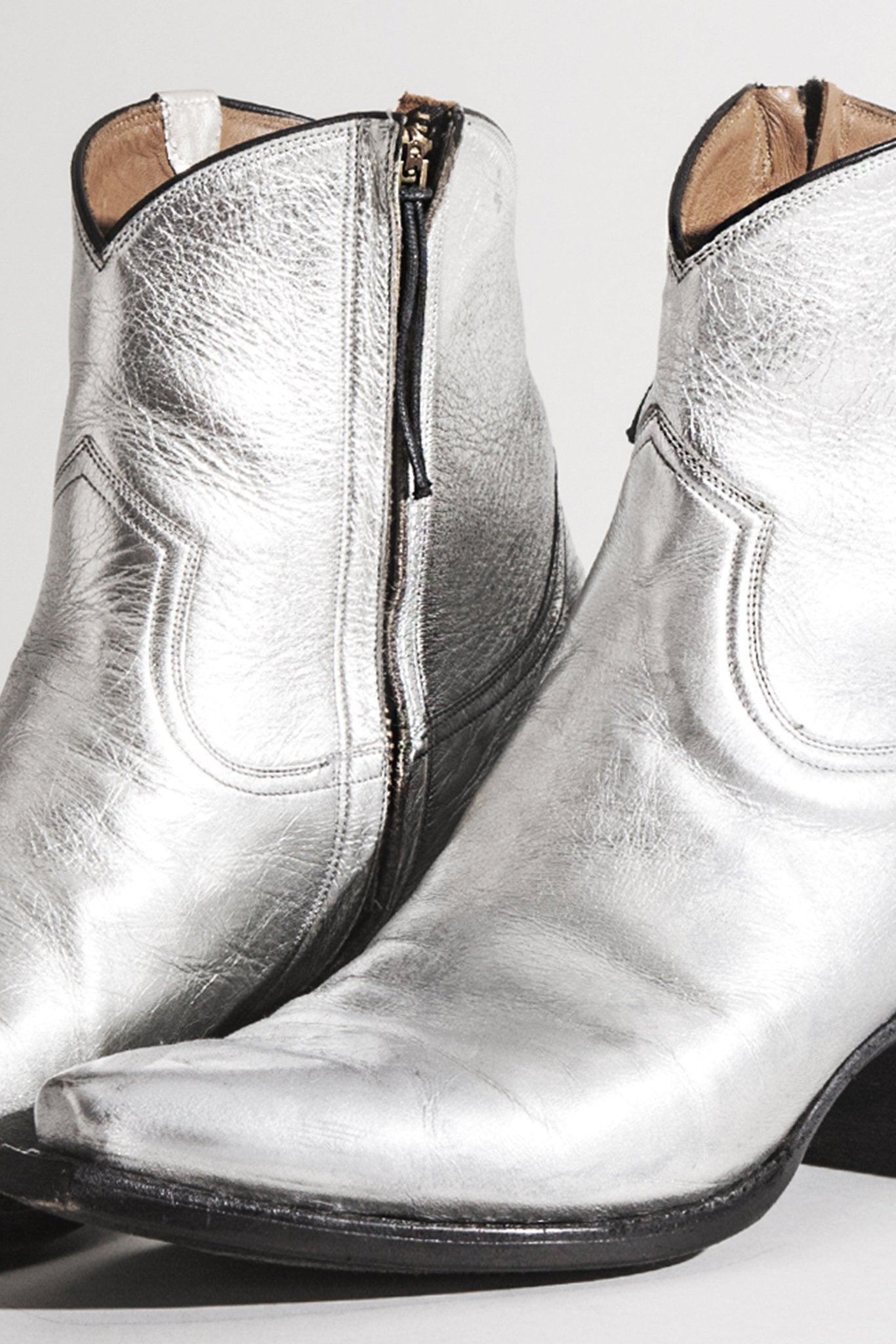 Cowboy Ankle Boot Silver