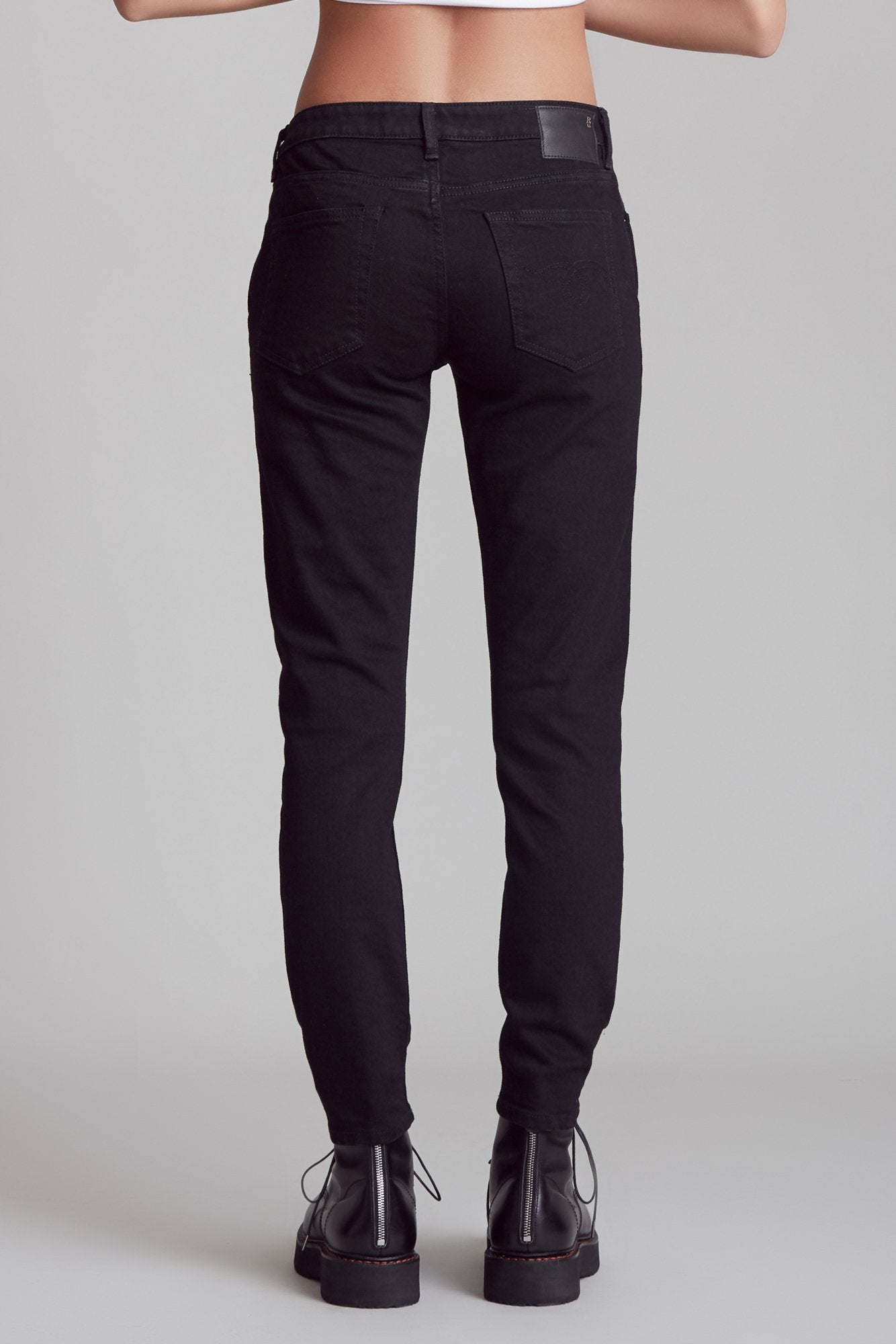 Double Pocket Boy Skinny - Rinsed Black