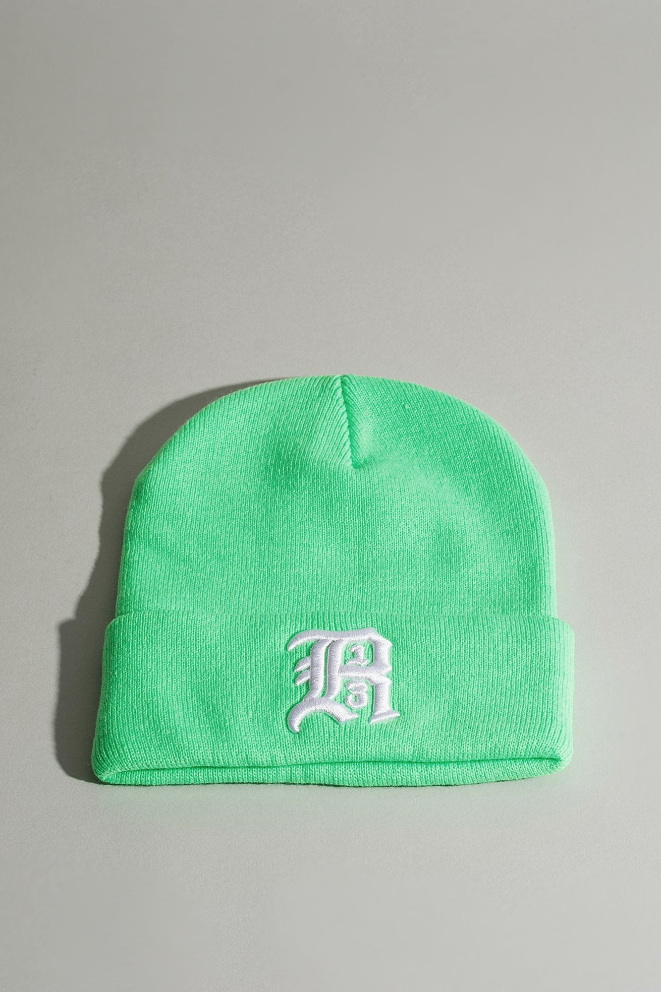 Beanie w/ Embroidery - Green