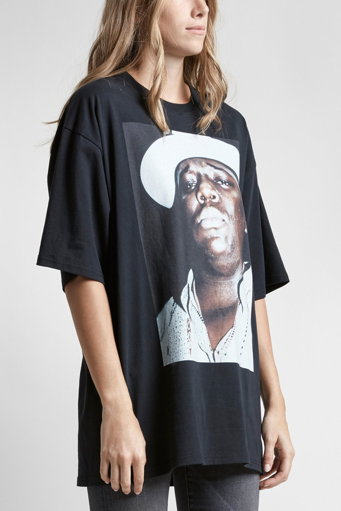 Biggie Hat Oversized T- Vintage Black