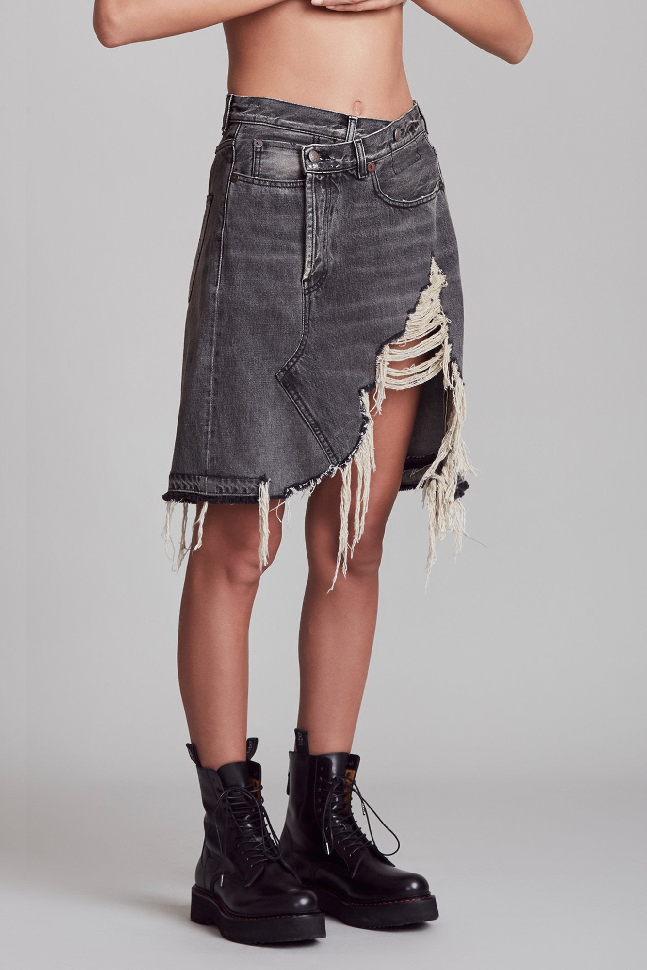 Norbury Denim Skirt - Leyton Black