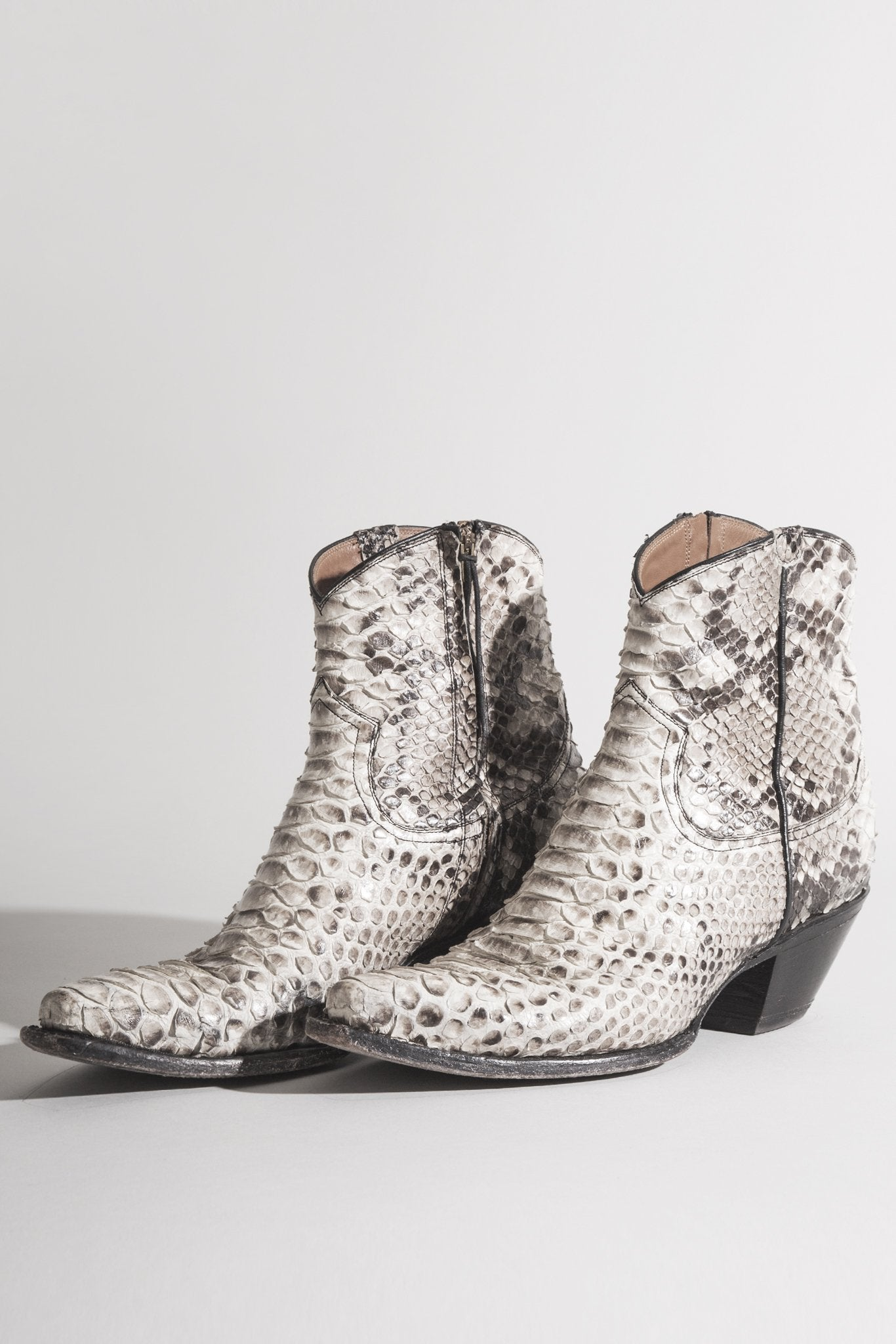 Cowboy Ankle Boot Brown Snake