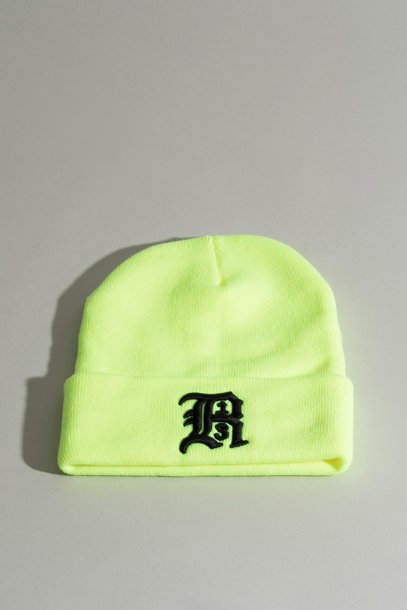 Beanie w/ Embroidery - Yellow