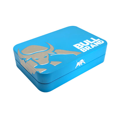 Bull Brand Tobacco Tin Blue