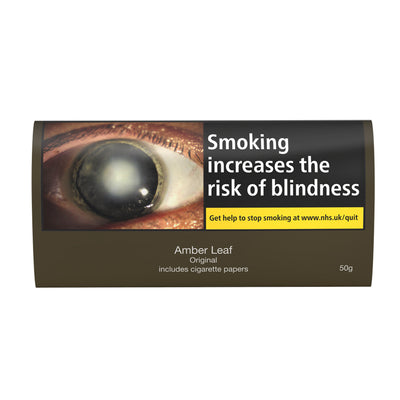 Amber Leaf Original Hand Rolling Tobacco 50g Pouch Including Paper