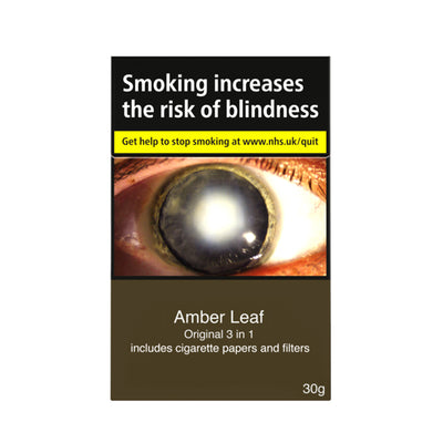 Amber Lead Original 3 in 1 Cigarettes with Papers and Filters Included