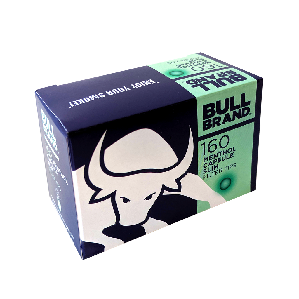 *NEW* Bull Brand Menthol Capsule Slim Filter Tips