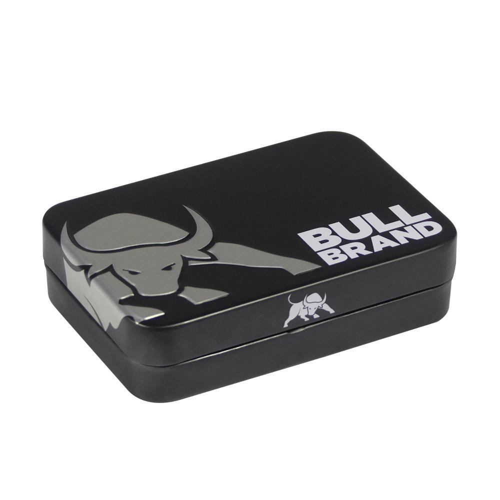 Bull Brand Tobacco Tin Black