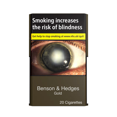 Benson and Hedges Gold Cigarettes 20 Pack