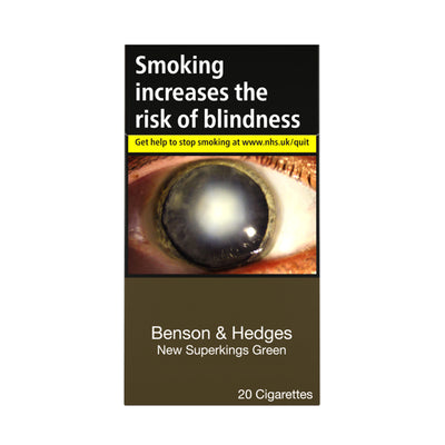 Benson and Hedges New Superkings Green Cigarettes 20 Pack