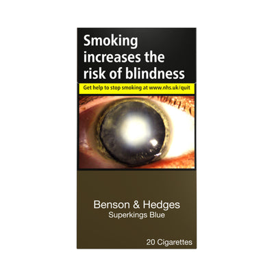 Benson and Hedges Superkings Blue Cigarettes 20 Pack