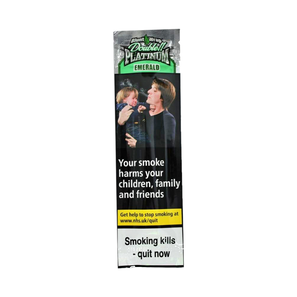 Blunt Wrap Double Platinum Emerald 2 Pack