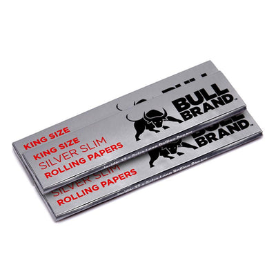 Bull Brand Silver King Size Slim Papers 3 Pack
